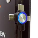 Καλώδιο Φόρτισης USB Spiral σε Micro USB, Type C & Lighting, σπιράλ, μαύρο