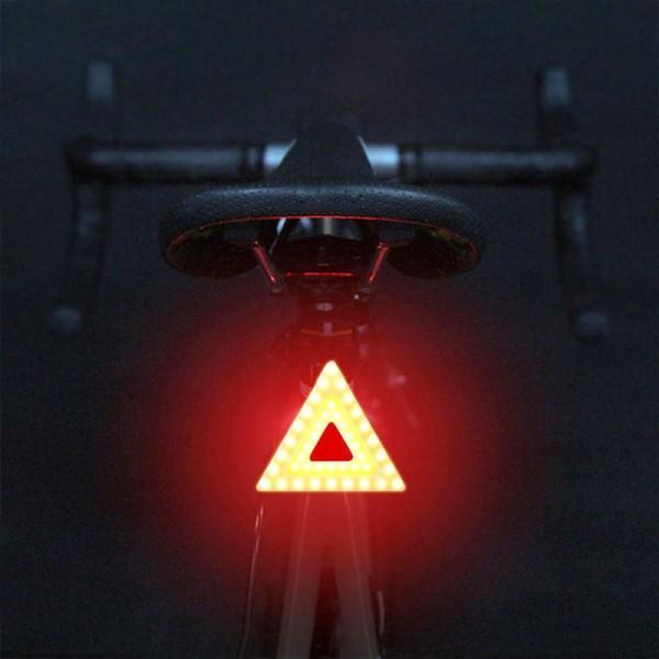 Επαναφορτιζόμενος φακός ποδηλάτου για το πίσω μέρος - Προειδοποιητικό Τρίγωνο