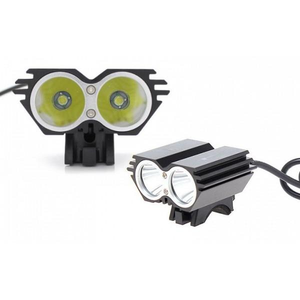 LED Εμπρός Φως Ποδηλάτου Τ6 USB X2 + Επαν. Μπαταρία
