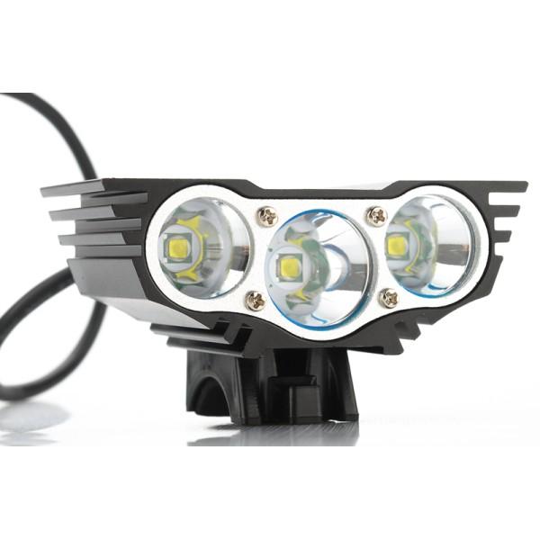 LED Εμπρός Φως Ποδηλάτου Τ6 USB X3