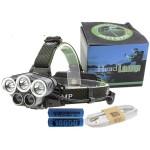 Φακός κεφαλής 3xCREE XM-L T6+2xXPE LED με 6 λειτουργίες - 8000Lm