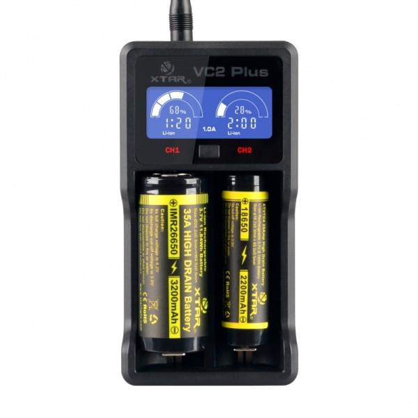 Φορτιστής  μπαταριών VC2 Plus με USB καλώδιο XTAR
