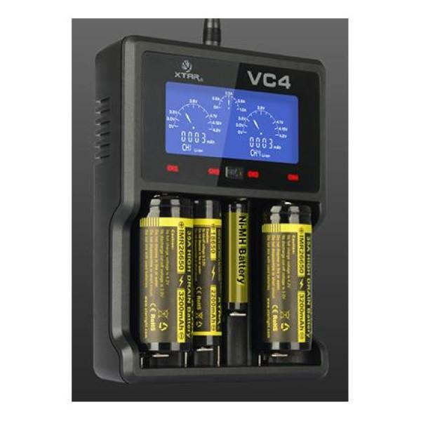 Φορτιστής  μπαταριών VC4 με USB καλώδιο XTAR
