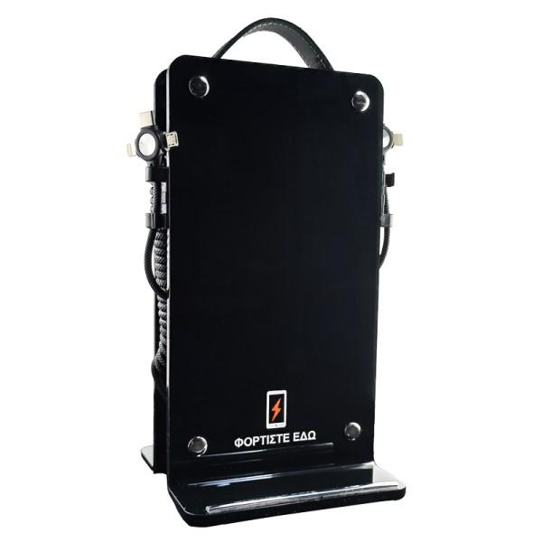 Επιτραπέζιος Ηλιακός Φορητός Φορτιστής 4Power Μαύρο