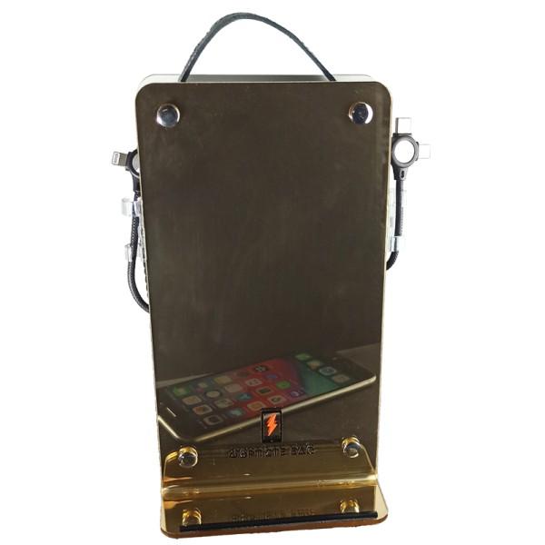 Επιτραπέζιος Ηλιακός Φορητός Φορτιστής 4Power Καθρέφτης Gold