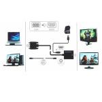 Αντάπτορας VGA to HDMI με υποστήριξη ήχου.