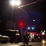 Επαναφορτιζόμενος φακός ποδηλάτου για το πίσω μέρος 70lm- Στεφάνι