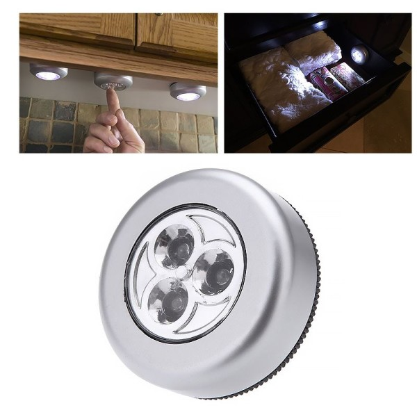 Led φως Μίνι αυτοκόλλητο φωτάκι με 3 LED - Ψυχρό φως