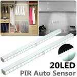 Led φως μπάρα με ανιχνευτή κίνησης αυτόνομο με μπαταρίες 20 LED (για ντουλάπα, σκάλες, ντουλάπια  κ.α.)